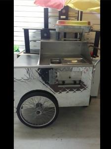 Mobile cartering hot dog push cart