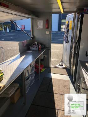 Catering trailer with pitch