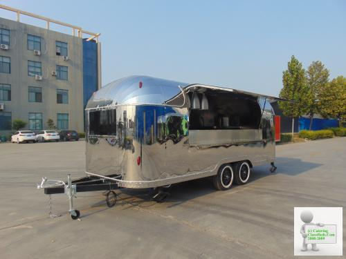 For Sale two immediately available brand new WK-550ST Airstream Style Catering trailers
