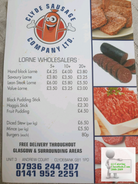 CATERING WHOLESALERS(cafe,deli,snackvan,butcher,sausage)