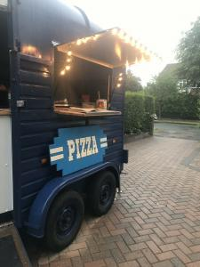 Pizza Rice Vintage Horsebox Catering Trailer.