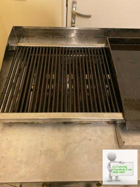 Commercial Grill 3 burners charcoal GAS with STAND