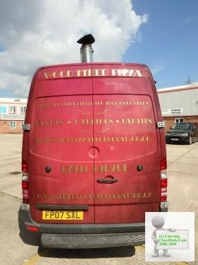 pizza catering van