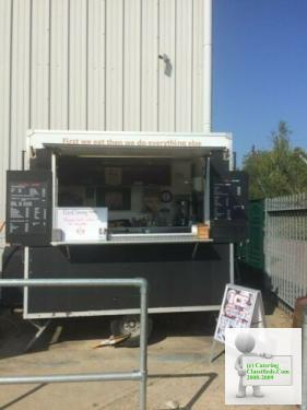 Burger van / catering trailer with pitch