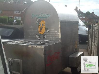 Baked potato oven trailer with Bain Marie