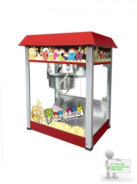 OLD FASHIONED MOVIE POPCORN CART & CONCESSION STAND