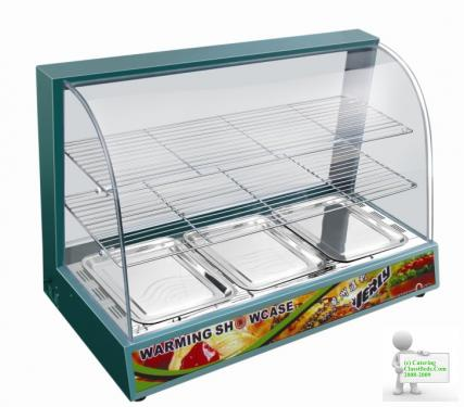 COMMERCIAL GREEN HOT FOOD CHICKEN WARMER DISPLAY CABINET SHOWCASE
