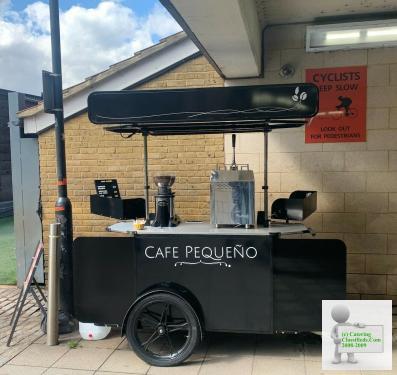 Mobile coffee cart with E bike chopper