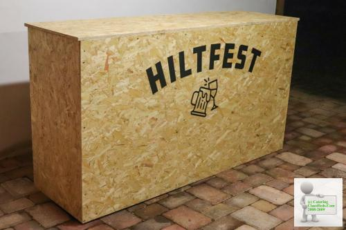Wooden Bar Outdoor Counter Top DJ Booth Custom Built for Parties, Events & Raves