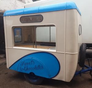 Vintage 1948 original lce cream trailer
