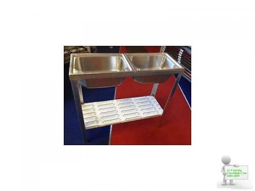 COMMERCIAL DOUBLE BOWL CATERING SINK