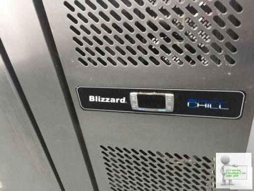 Commercial Blizzard Three Door Saladette Fridge
