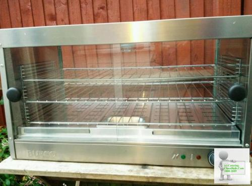 Commercial Burco hot food pie display cabinet