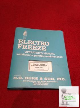 Electro Freeze Model CS1-233 for sale