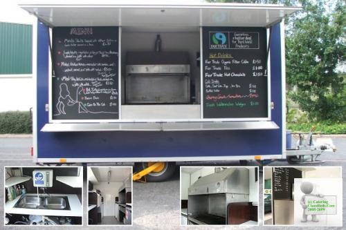 Hot food Catering trailer 17 foot. German build. 2006