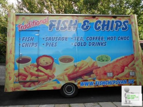 Motorised fish & chips van/unit & business