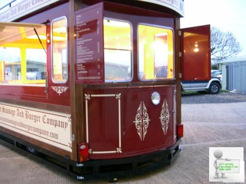 Brand New Tram Style Catering Trailer