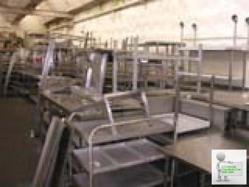 Stainless Steal Tables and Shelving