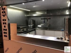 Twin wheel catering trailer